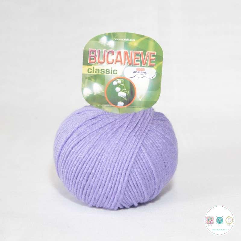 Adriafil Italian Yarn - Bucaneve 60 - Worsted - Lilac - 50g - Extra Fine Merino - 100% Wool