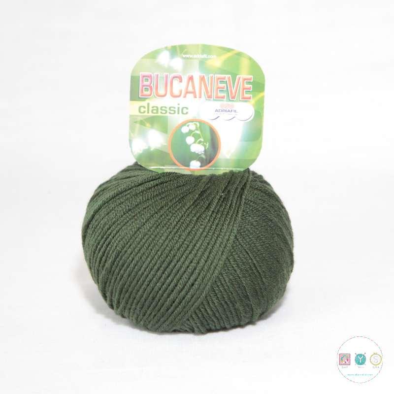 Adriafil Italian Yarn - Bucaneve 63 - Worsted - Fir Green - 50g - Extra Fine Merino - 100% Wool