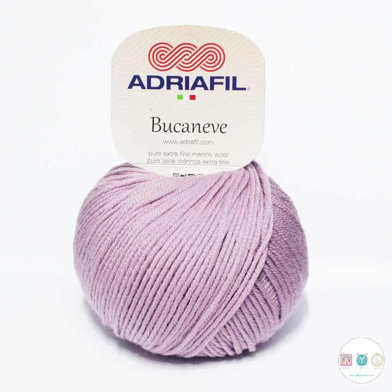 Adriafil Italian Yarn - Bucaneve 68 - Worsted - Mauve - 50g - Extra Fine Merino - 100% Wool