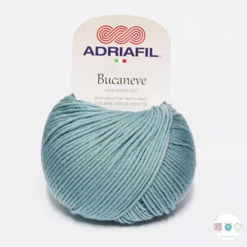 Adriafil Italian Yarn - Bucaneve 69 - Worsted - Duck Egg Blue - 50g - Extra Fine Merino - 100% Wool
