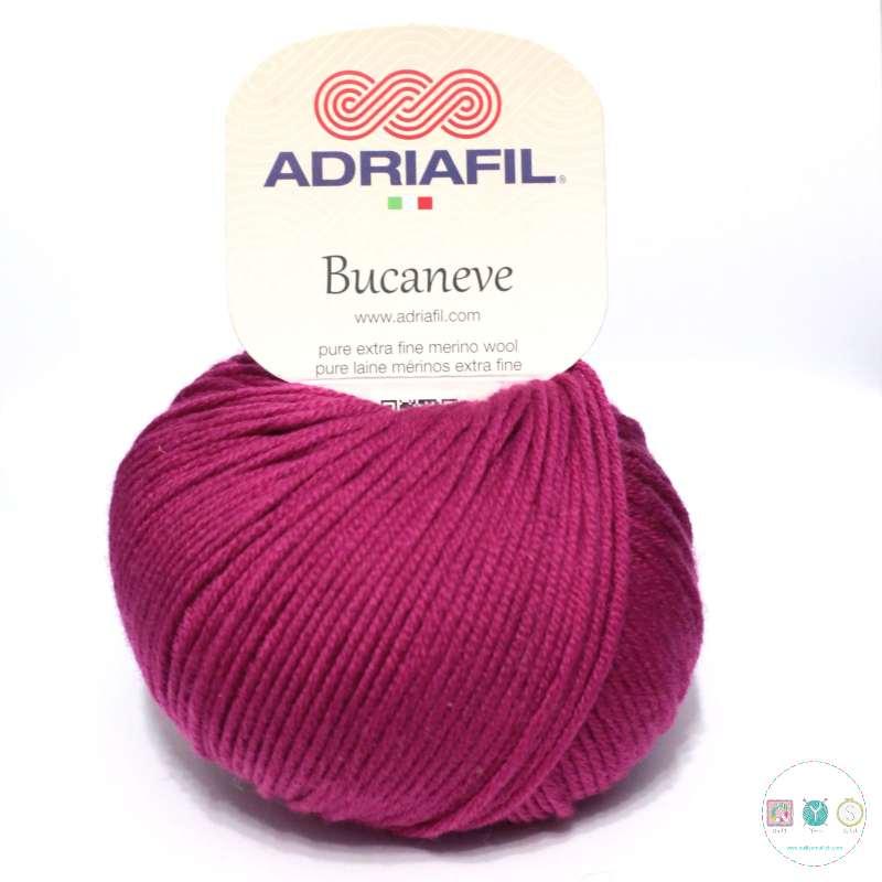 Adriafil Italian Yarn - Bucaneve 70 - Worsted - Magenta Pink - 50g - Extra Fine Merino - 100% Wool