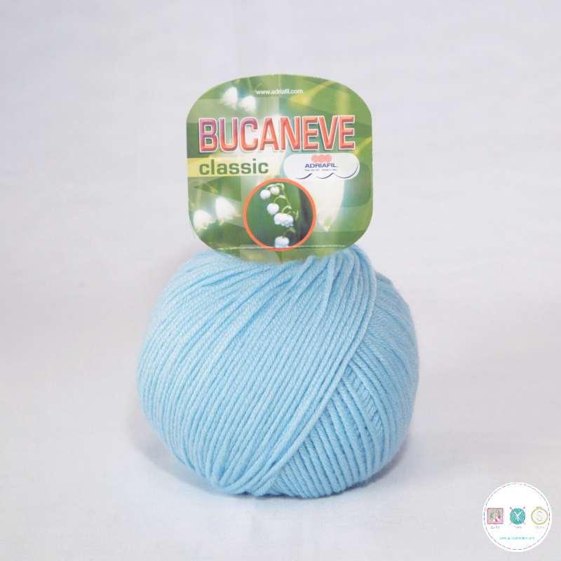 Adriafil Italian Yarn - Bucaneve 71 - Worsted - Baby Blue- 50g - Extra Fine Merino - 100% Wool