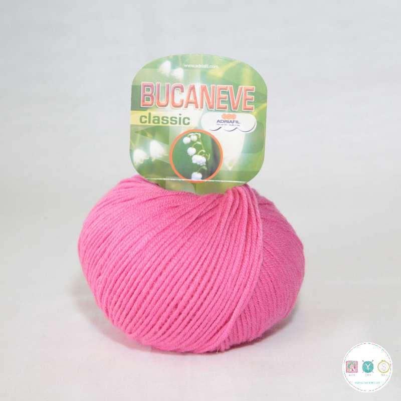 Adriafil Italian Yarn - Bucaneve 77 - Worsted - Cerise Pink - 50g - Extra Fine Merino - 100% Wool