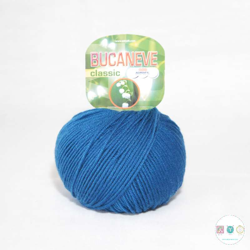 Adriafil Italian Yarn - Bucaneve 79 - Worsted - Royal Blue - 50g - Extra Fine Merino - 100% Wool
