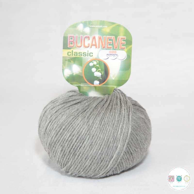 Adriafil Italian Yarn - Bucaneve 82 - Worsted - Grey - 50g - Extra Fine Merino - 100% Wool