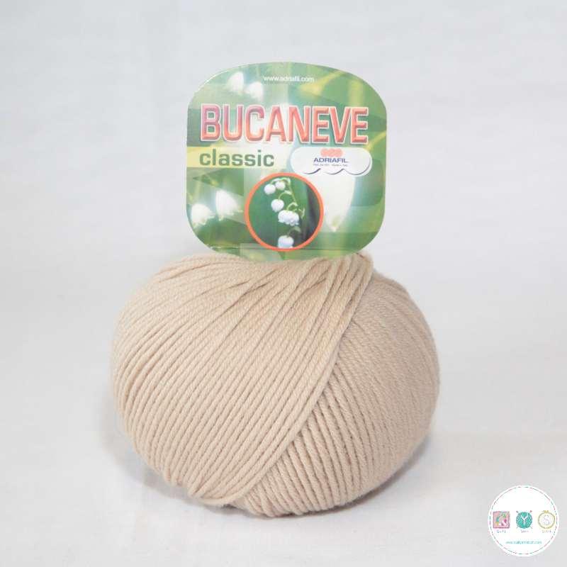 Adriafil Italian Yarn - Bucaneve 85 - Worsted - Beige - 50g - Extra Fine Merino - 100% Wool