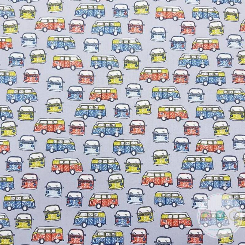 Campervans on Grey Material - VW Vans - 60