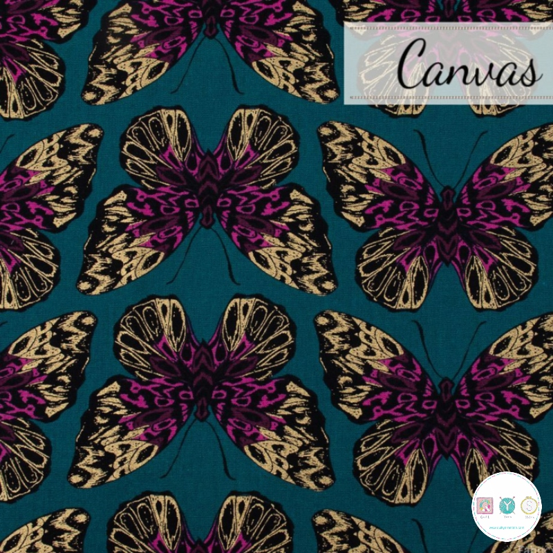 Ruby Star Society - Butterfly - Cotton Canvas  Linen - by Sarah Watts - Dressmaking Fabric
