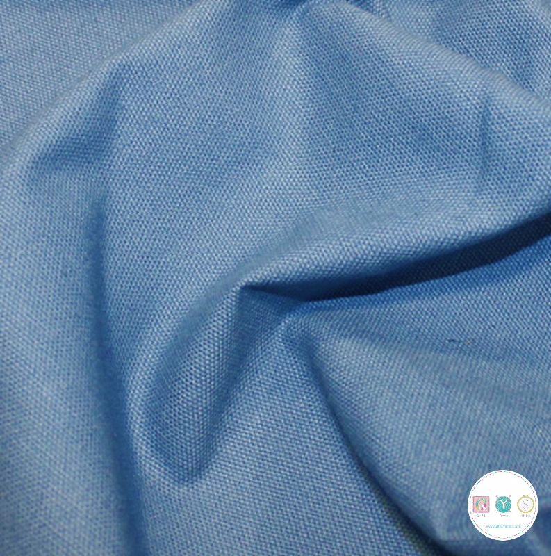 Delph Blue - Woven - Cotton Canvas - 230gsm - Dressmaking Fabric