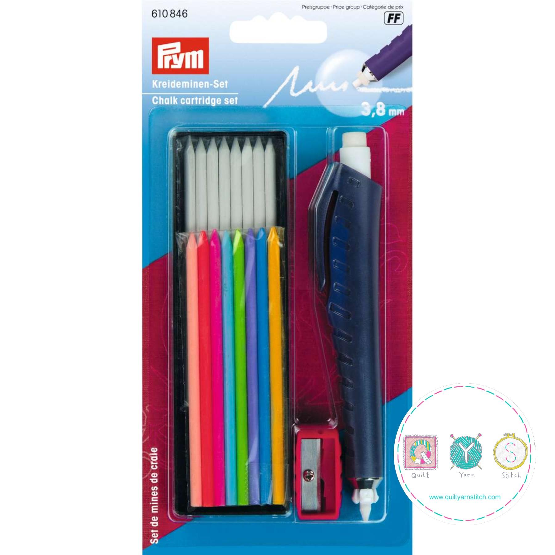 Prym 610846 Chalk Cartridge Set for Dressmaking, Patchwork and Quilting