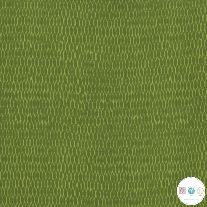 Merriment - Net on Green - by Gingiber for Moda Fabrics - Patchwork & Quilting