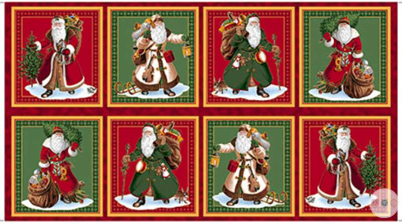 Vintage Santa Picture Panel , Sew and Go Fabric Panel