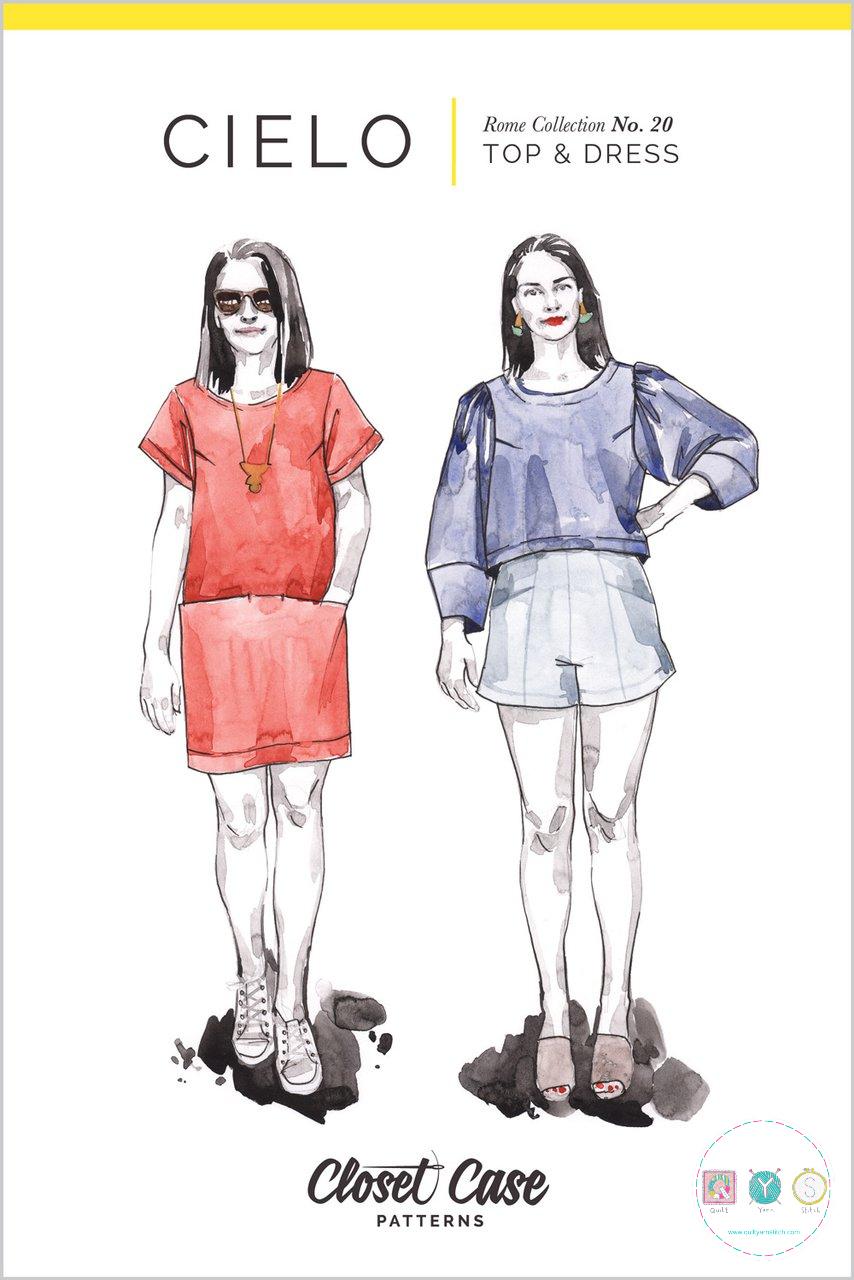 Closet Case - Cielo Top and Dress Pattern - Ladies Dressmaking Pattern