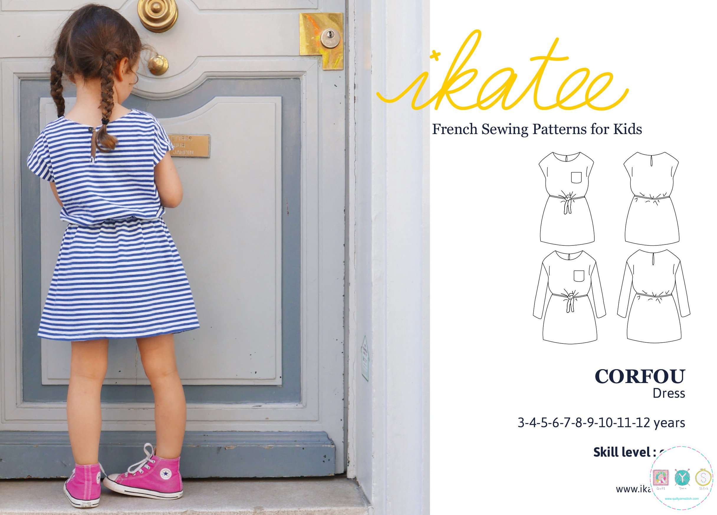Corfou Dress - by Ikatee - French Sewing Patterns for Kids - Childrens Dressmaking