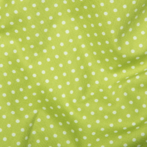 Lime Green Polka Dots - Spots Material - Cotton Poplin Fabric by Rose and Hubble