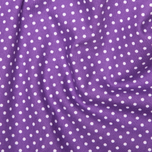 Purple Polka Dots - Spots Material - Cotton Poplin Fabric by Rose and Hubble