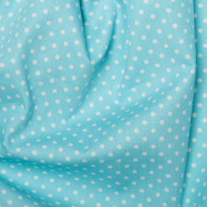 Sky Blue Polka Dots - Spots Material - Cotton Poplin Fabric by Rose and Hubble