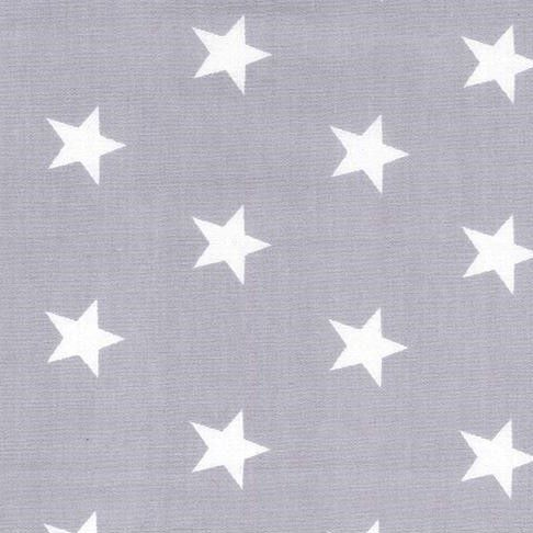Stars On Silver Poplin by Rose and Hubble