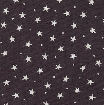 Tiny Star Print On Black Poplin by Rose and Hubble