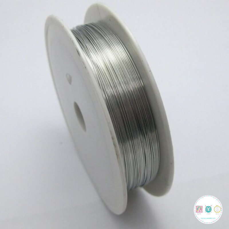 Craft Wire Silver 8 Metres - Jewellery Making - Craft Accessories