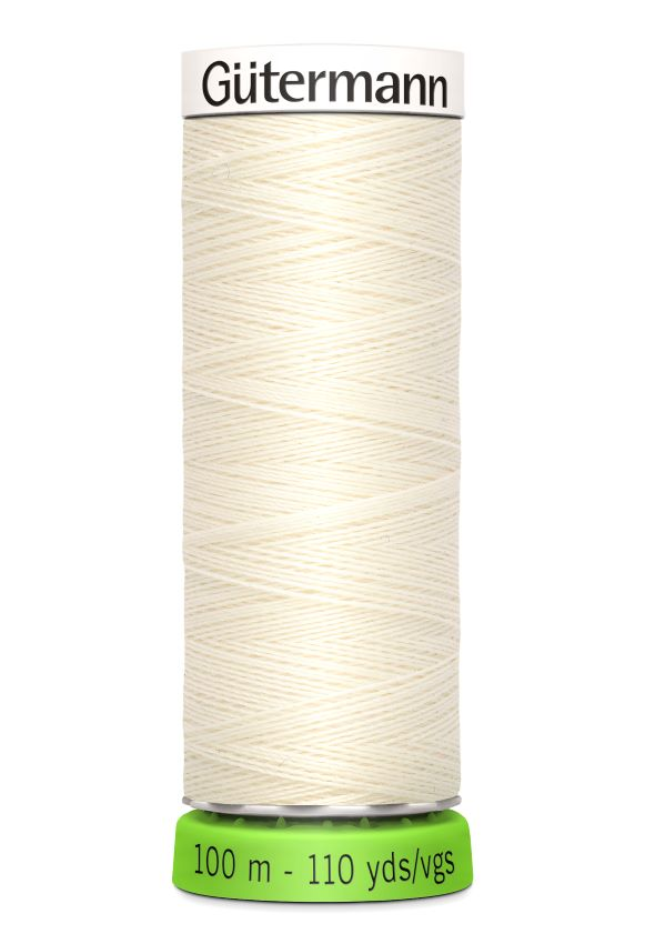 Gutermann Sew All Thread - Cream Recycled Polyester rPET Colour 1