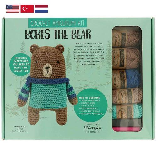 Boris the Bear Amigurumi Crochet Kit