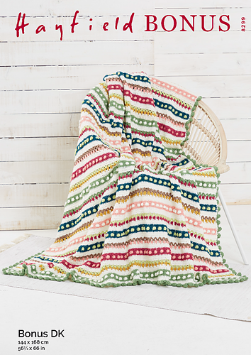 Crochet Pattern - Hayfield 8299 Tulip and Bobble Blanket