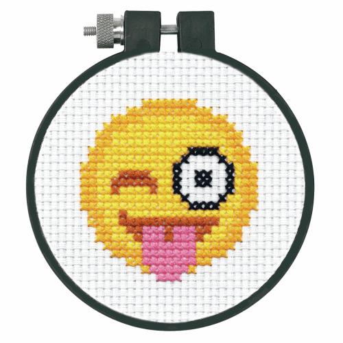 Gift Idea - Cross Stitch Kit with Emoji Face