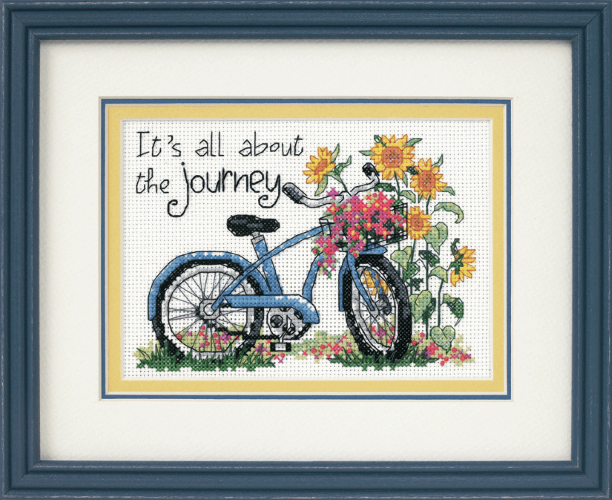 Gift Idea - Cross Stitch Kit - It's All About The Journey