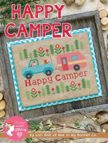 Cross Stitch Pattern - Happy Camper by Lori Holt