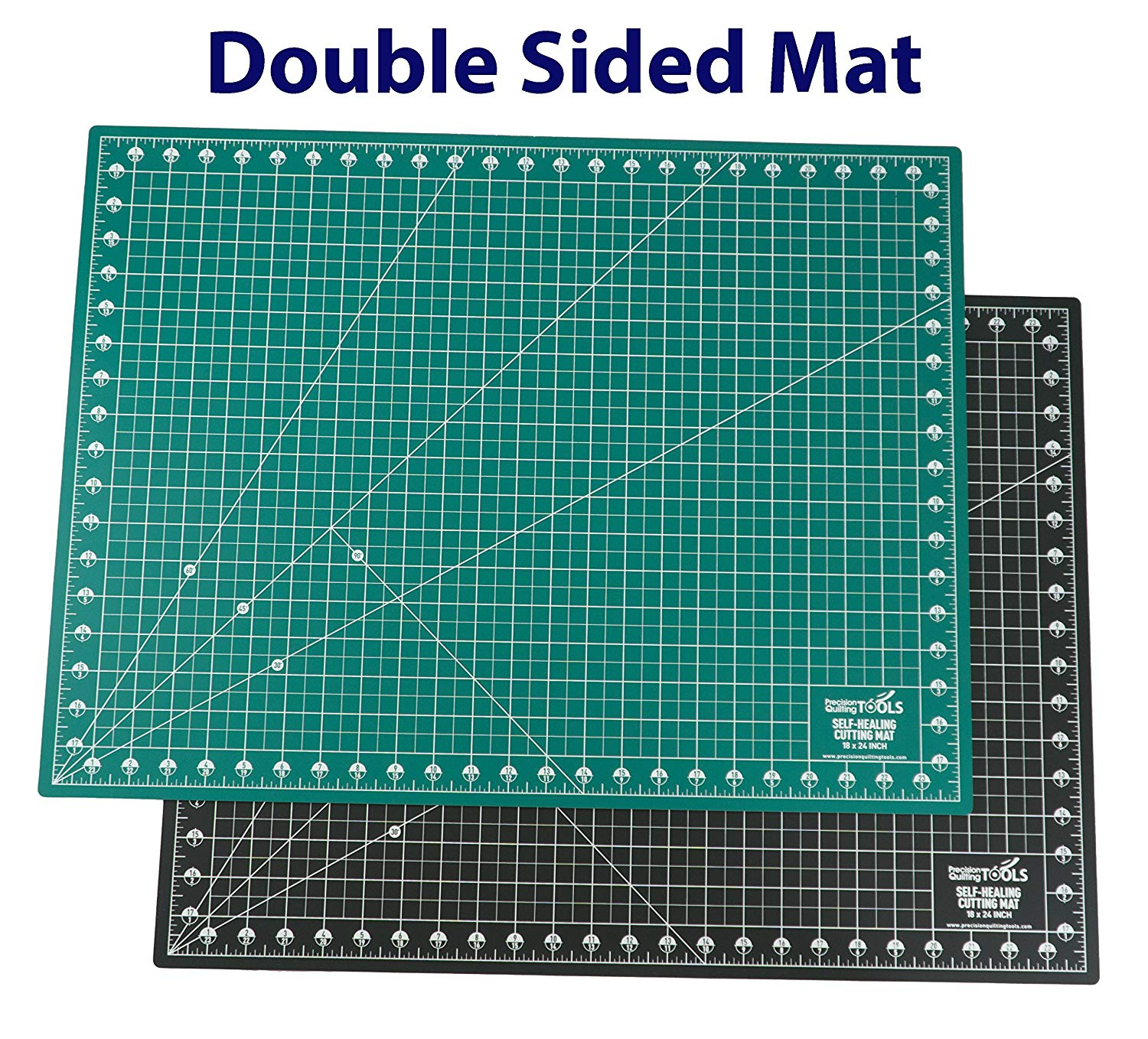 Precision Quilting Tools - Self Healing Cutting Mat - 18 x 24 inch - Double Sided - A2