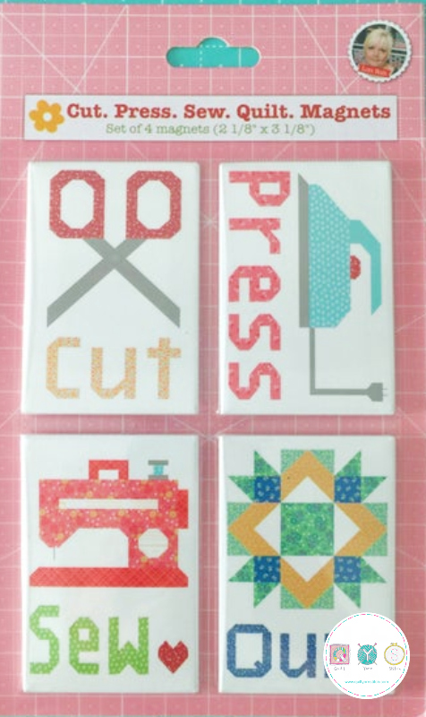 Gift Idea - Lori Holt Cut, Press, Sew, Quilt Magnets - for Riley Blake - Sewing Theme Gifts