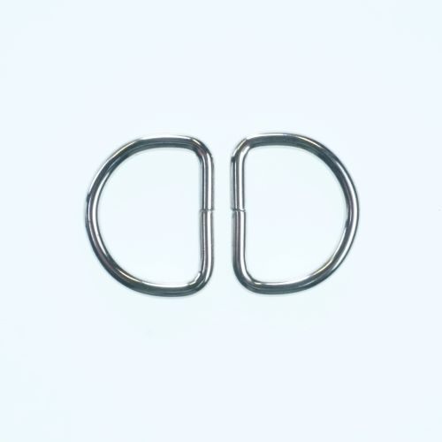 Bag Hardware D Rings Silver Colour - 25mm