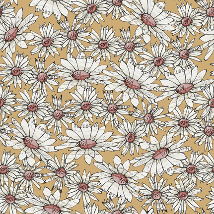 Daisy Floral Fabric - Farm Life by Quilting Treasures AS 27679S