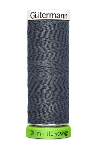 Gutermann Sew All Thread - Dark Grey Recycled Polyester rPET Colour 93