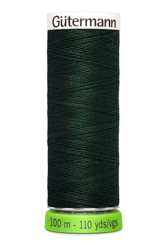 Gutermann Sew All Thread - Dark Green Recycled Polyester rPET Colour 472