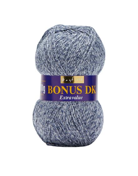 Hayfield Bonus Dk Wool -  Denim Marl 589