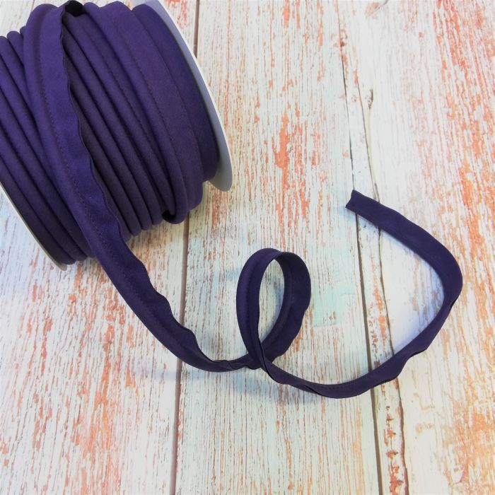 Piping in Dark Violet Col 353 - 18mm Wide by Fany