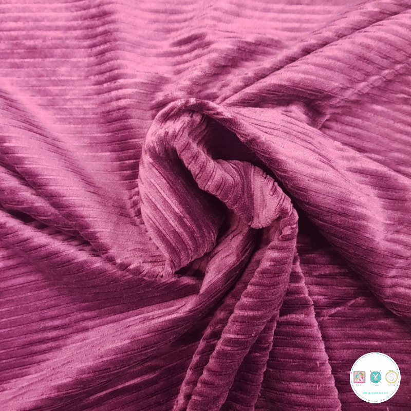 Burgundy Coolmax - Anti-sweat - Moisture Wicking - Breathable - Stretch Jogging Fabric - Dressmaking