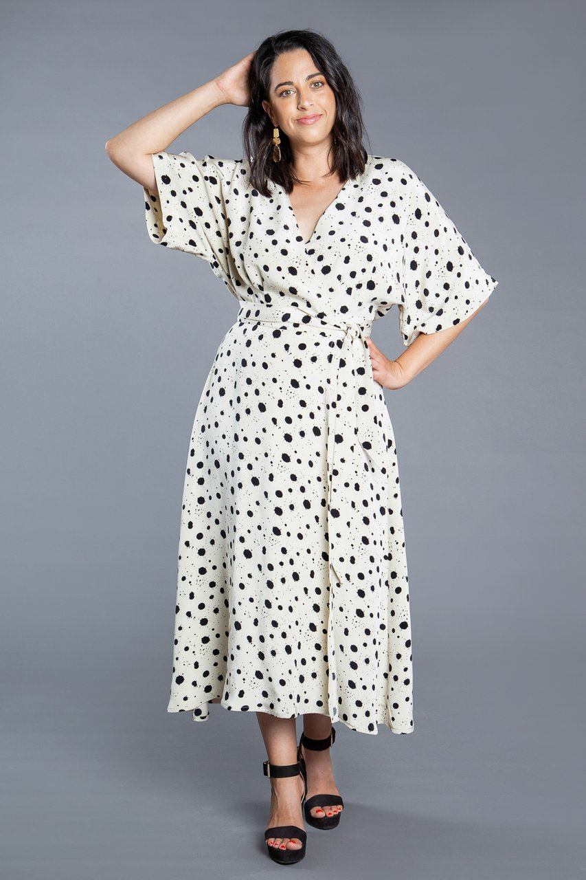 Elodie Wrap Dress Sewing Pattern by Closet Core Patterns