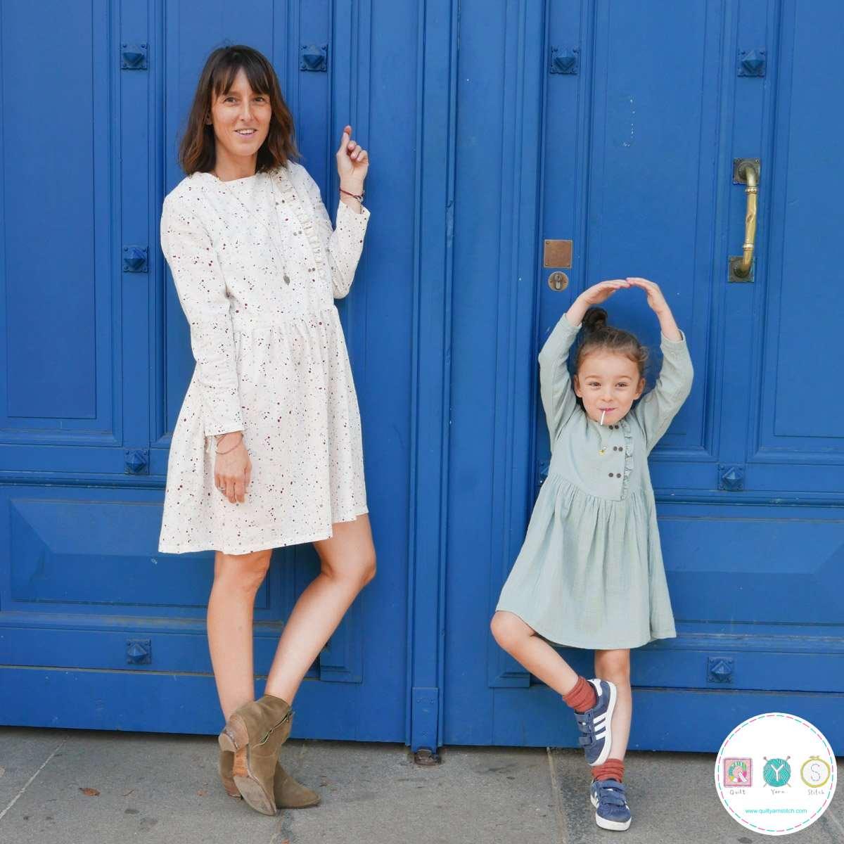Elona Mum Dress  - by Ikatee - French Sewing Patterns - Ladies Dressmaking