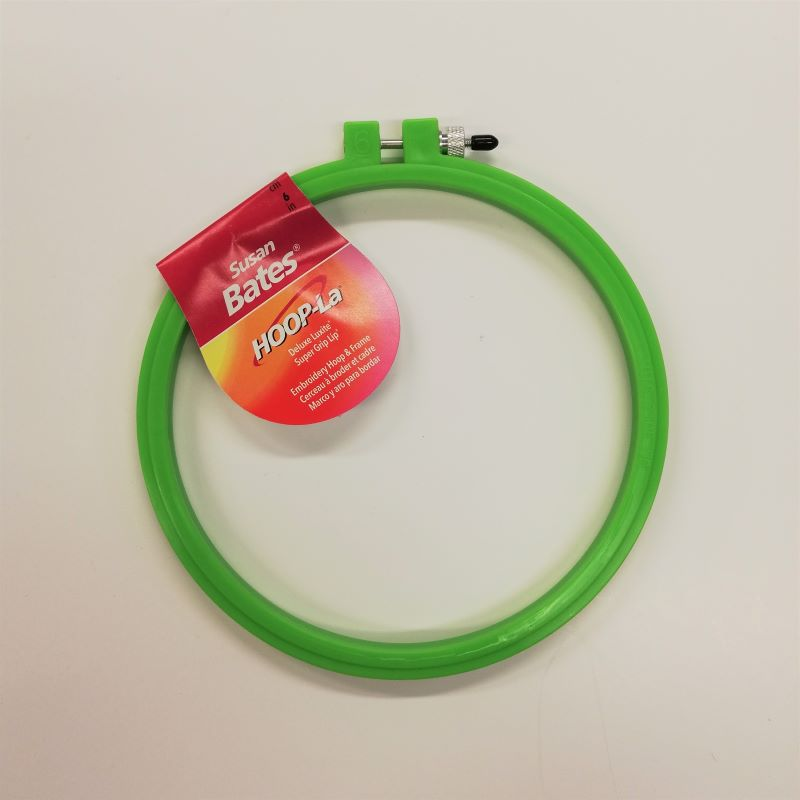 Embroidery Hoop - 6inch Green Plastic by Susan Bates