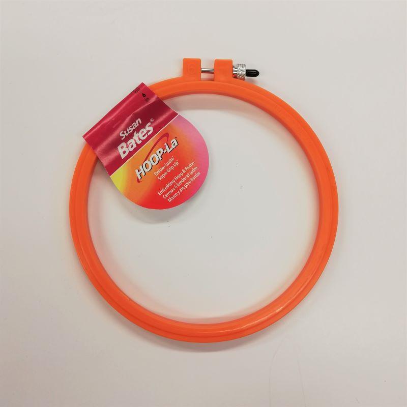 Embroidery Hoop - 6inch Orange Plastic by Susan Bates