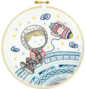 Gift Idea - Allo La Terre - Hello Earth Embroidery Kit by Un Chat dans L'aiguille