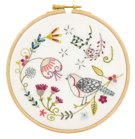 Gift Idea - George the Robin Embroidery Kit by Un Chat dans L'aiguille