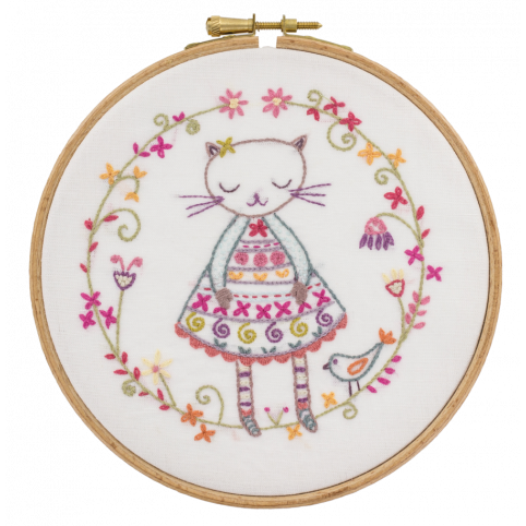 Gift Idea - Pretty Cat Embroidery Kit by Un Chat dans L'aiguille
