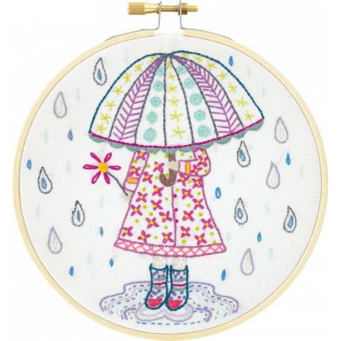 Gift Idea - Emily Loves the Rain Embroidery Kit by Un Chat dans L'Aiguille