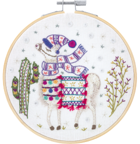 Gift Idea - My Beautiful Ilama Embroidery Kit by Un Chat dans L'aiguille