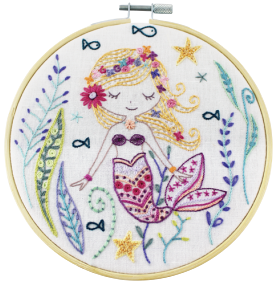 Gift Idea - Marjoram the Mermaid Embroidery Kit by Un Chat dans L'aiguille
