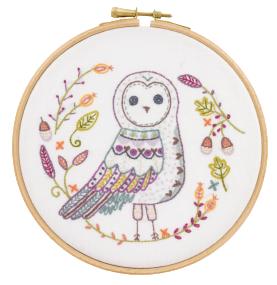 Gift Idea - Huguette the Owl Embroidery Kit by Un Chat dans L'aiguille